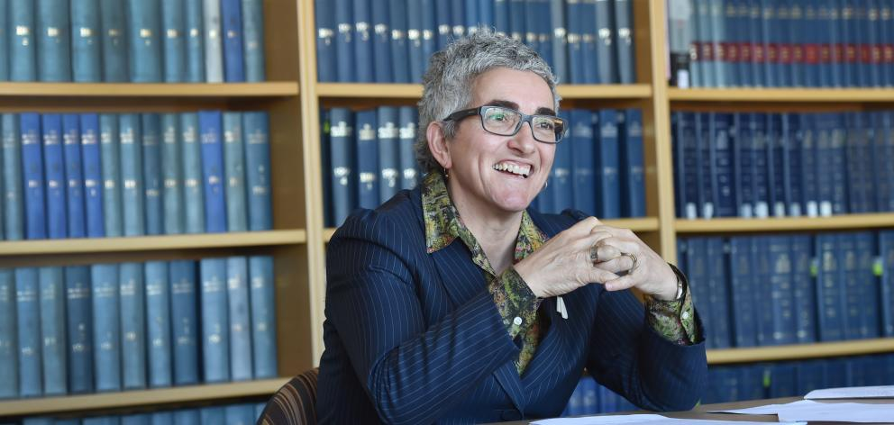 University of Otago law graduate and New Zealand Solicitor-general Una Jagose at the Otago Law School yesterday. Photo: Peter McIntosh