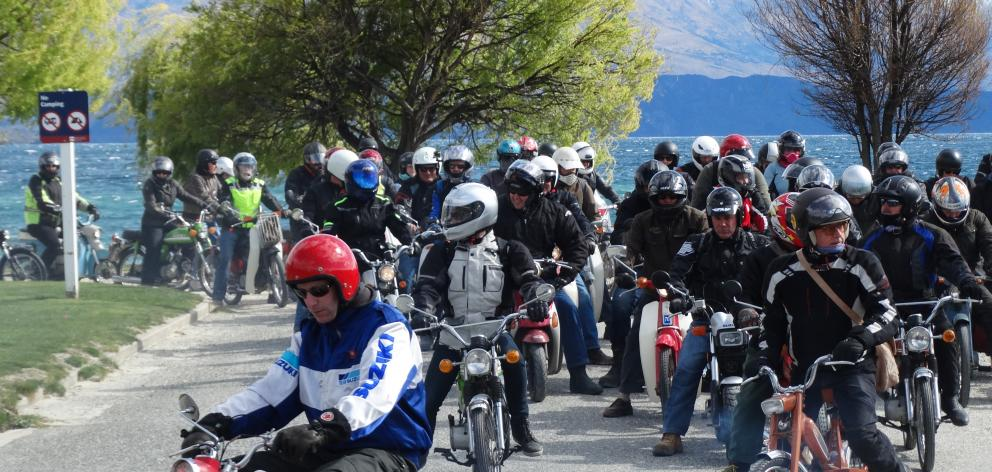 A record number of riders rolled in to Wanaka for the seventh annual Upper Clutha Scooter Hooter ...
