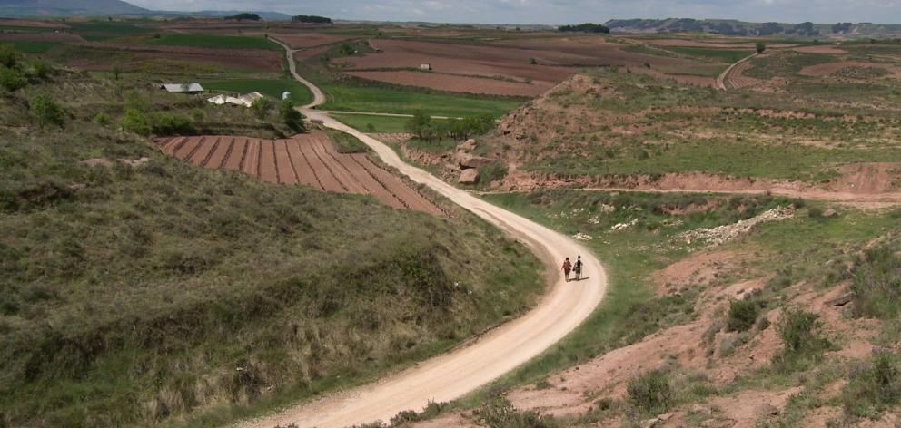 Walkers make their way along the Camino de Santiago. PHOTO: ALLIED PRESS FILES