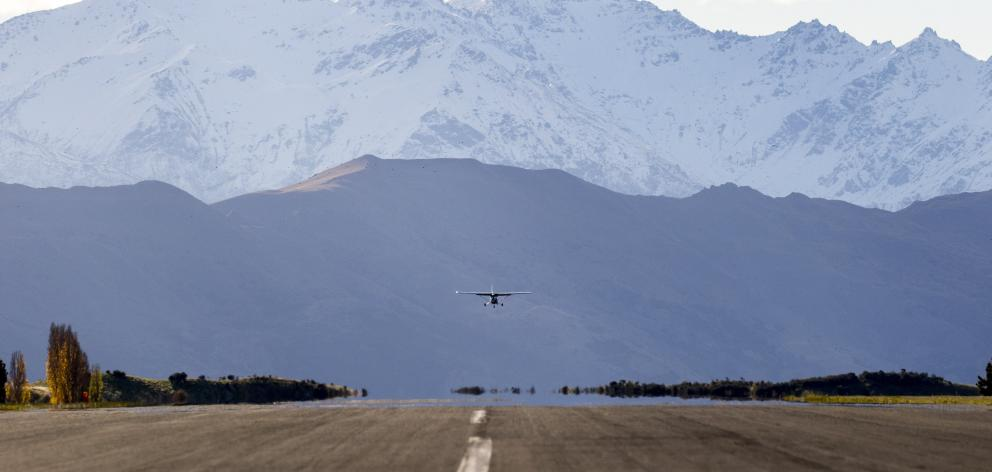 Wanaka Airport, which already has  noise boundaries in place to accommodate airport growth. Photo...