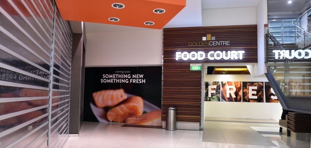 The food court in Dunedin's Golden Centre Mall will be closed until early next year for a...