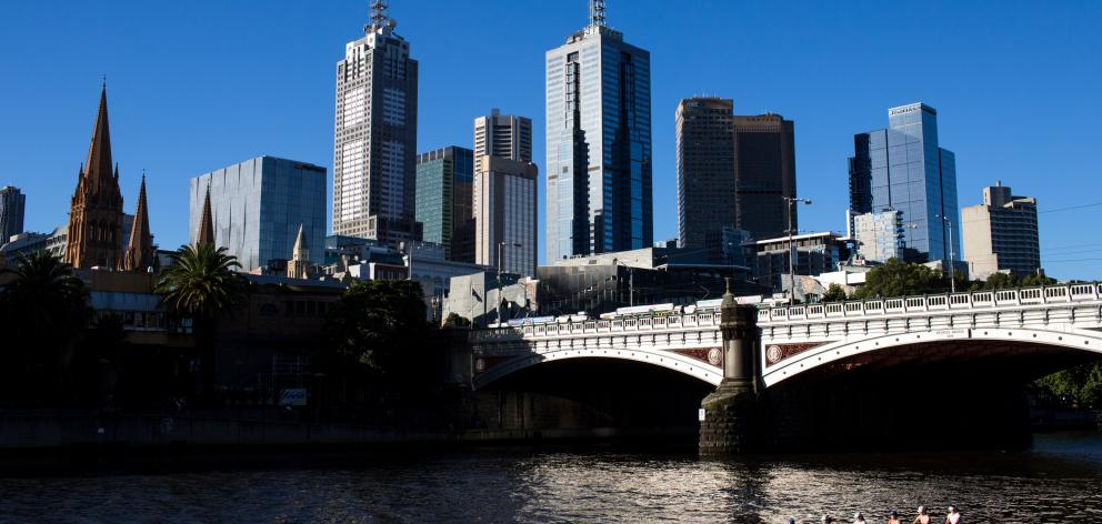 A view of the Melbourne skyline from the Yarra river. Photo: Getty Images