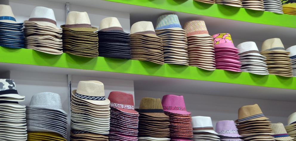 Panama hats for sale.
