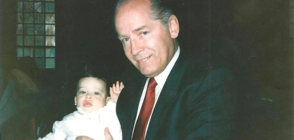 "Undated pic of James ""Whitey"" Bulger holds John Martorano's youngest son, John Jr., during his Christening ceremony. Photo: US Attorney's Office of Massachusetts via Reuters"