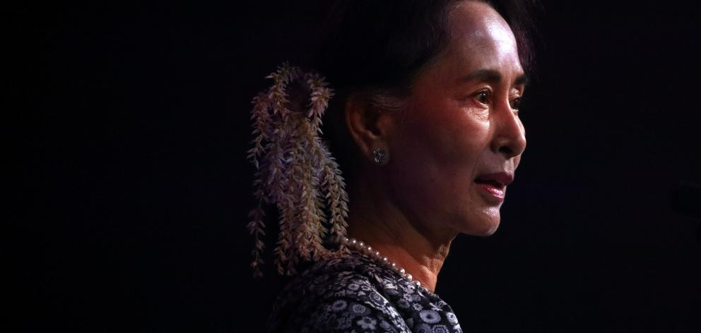 Once hailed as a champion in the fight for democracy, Aung San Suu Kyi has been stripped of a series of international honours over a Rohingya exodus in Myanmar. Photo: Reuters