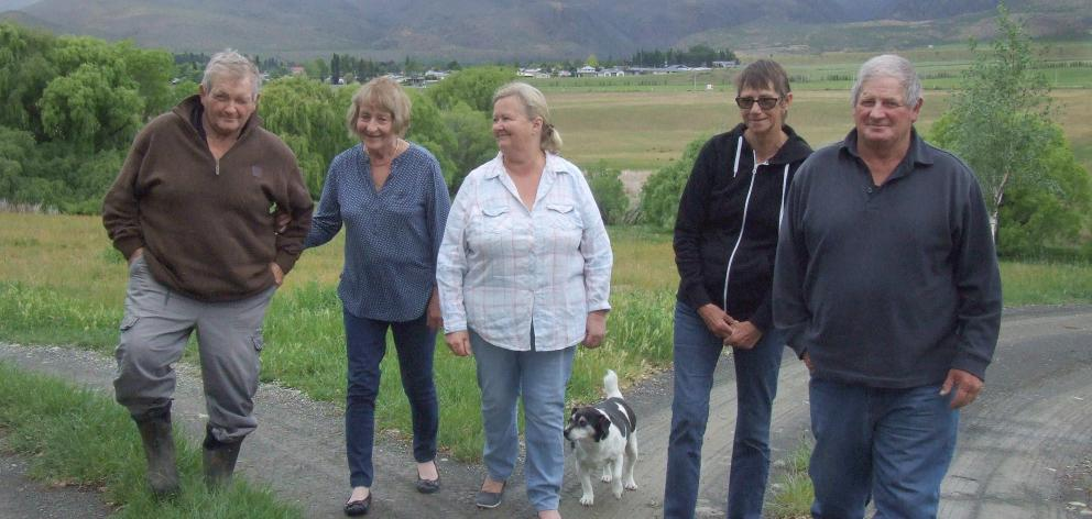 The Munro family (from left) Ian, Cheryl, Vicky, Joan and John, of Otematata, are selling the...