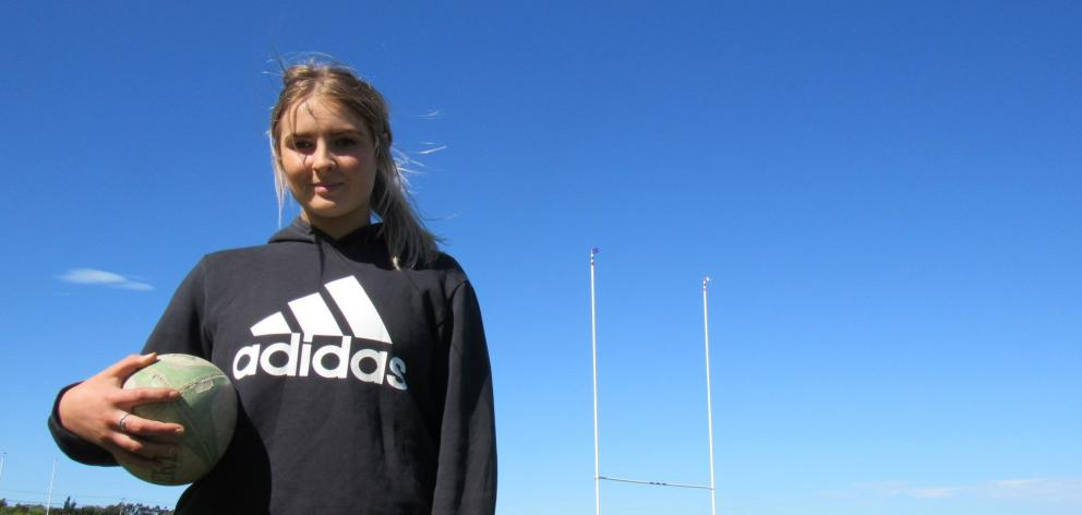 St Kevin's College's Georgia Oakes (18) is preparing to return to the rugby field at the Ignite7...