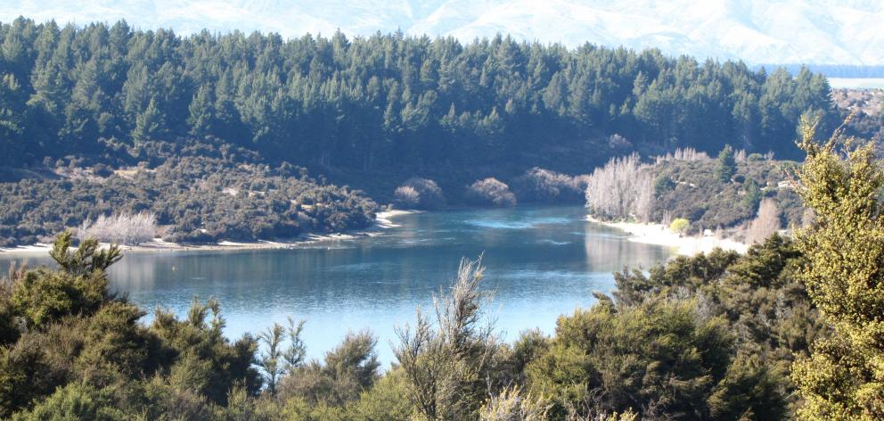 The upper reach of the Clutha River, just below the lake outlet. Photo: ODT