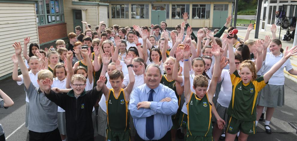 East Otago High School principal and former draper Lennox Sharp will retire in early December.  Photo: Stephen Jaquiery