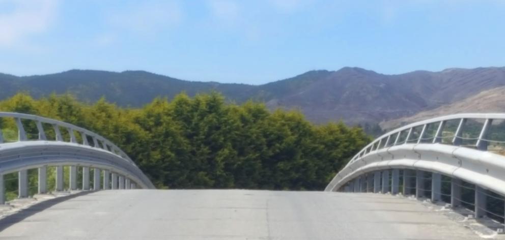 The Kaitangata Bridge.