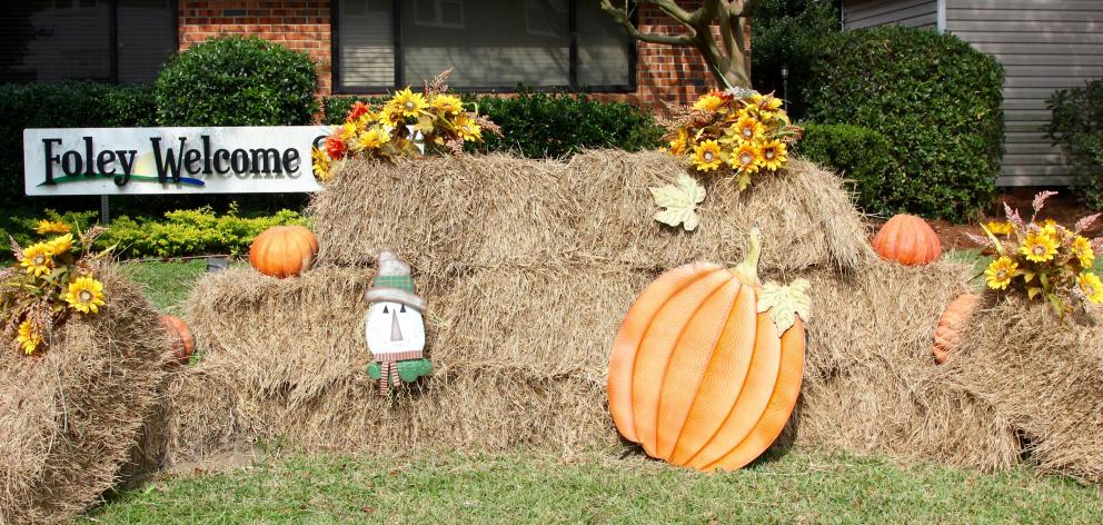 Thanksgiving displays brighten the streets everywhere.