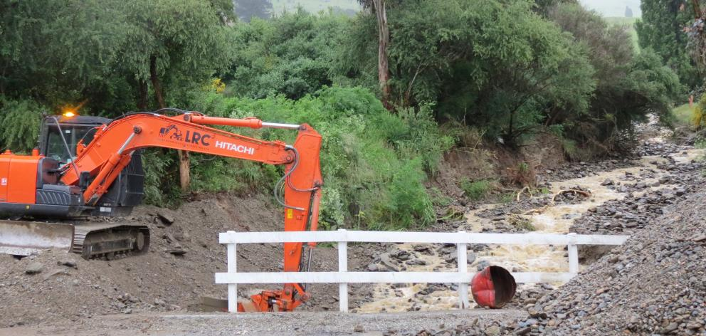 Mud, gravel and debris was removed from a creek beside Quail Haven, Roxburgh. Photos: Staff Photographers