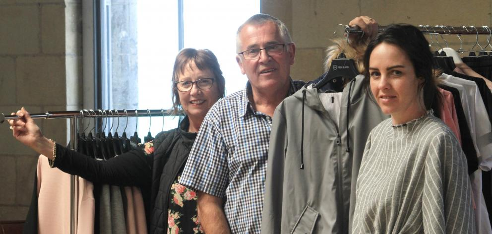 Moke's Lynn Stevens (left) director Keith Stevens and designer Anneke Stevens are moving to the top floor of the Loan and Merc building in Oamaru's Harbour St. Photo: Hamish MacLean