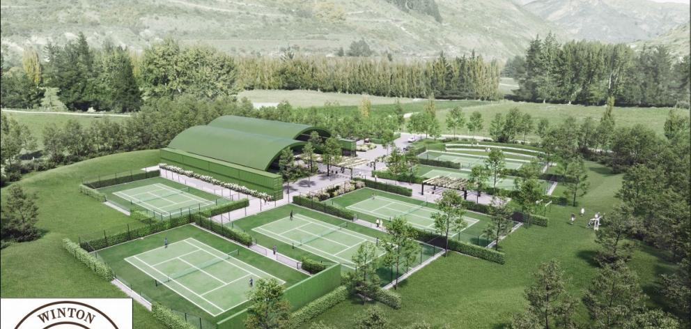An artist's impression of the Winton Tennis Academy proposed to be built in Queenstown by...