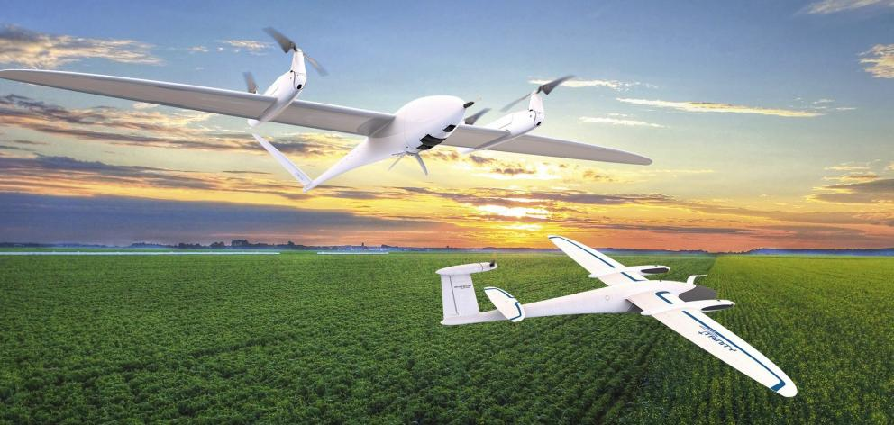 T25 and T35 unmanned aircraft with 2.5m and 3.5m wingspans. Photo: Skybase