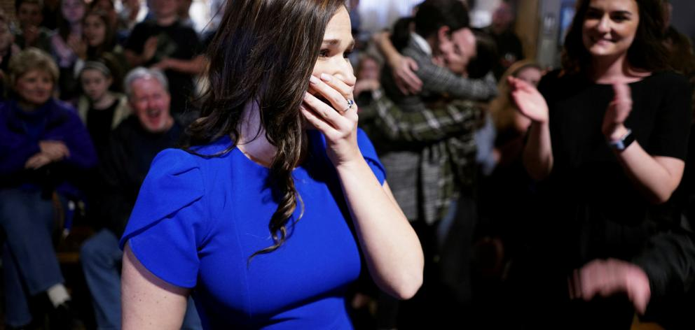 Abby Finkenauer, daughter of a union worker and sister of a soybean farmer, was precisely the sort of candidate Democrats needed to flip Iowa's 1st congressional district. Photo: Reuters