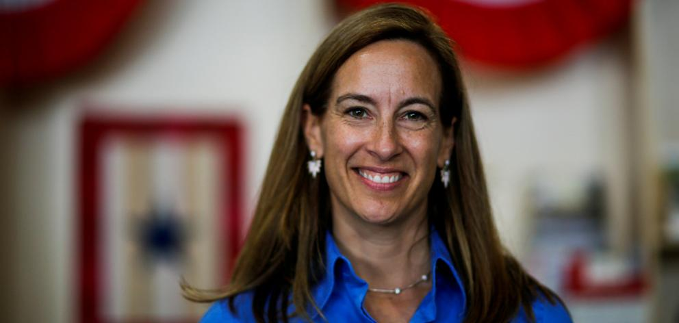 On election night, Democratic nominee Mikie Sherrill romped to victory over state assemblyman Jay Webber. Photo: Reuters
