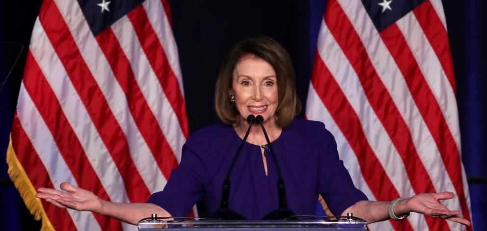Nancy Pelosi reacts to U.S. midterm election results in Washington. Photo: Reuters