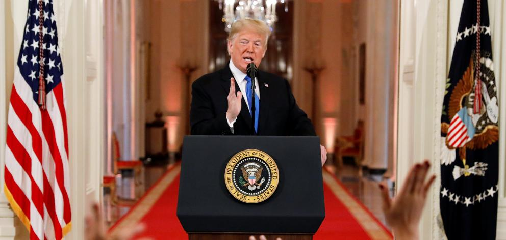 President Trump holds post-midterm elections news conference at the White House in Washington. Photo: Reuters