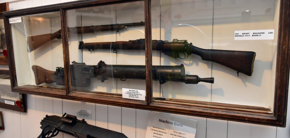A variety of guns from major wars.