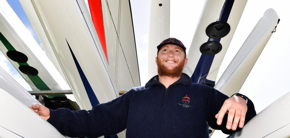 Rower Bryce Abernethy is on the way back after a freak thumb injury. Photo: Peter McIntosh