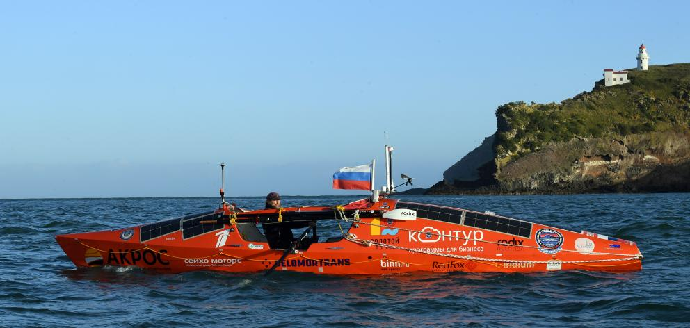 Explorer and Orthodox priest Fedor Konyukhov starts his round the world rowing adventure from the...