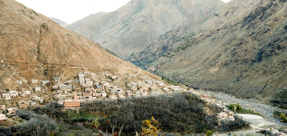General view of Imlil, a village nearby popular trekking area in the Atlas mountains where two tourists were found killed. Photo: NTB Scanpix/Terje Bendiksby via  Reuters