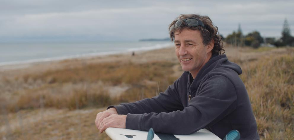 Tauranga surfboard maker Paul Barron came up with the idea of building a surfboard shell from wool. Photos: Supplied