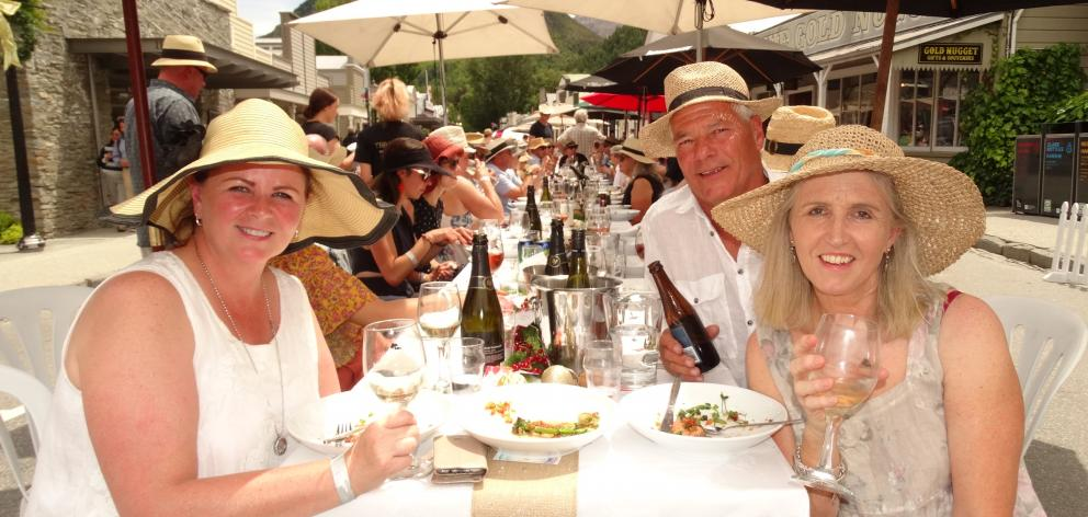 Enjoying the lunch  are (from left) Karen Mair and Frank and Trish Anderson, all of Arrowtown.