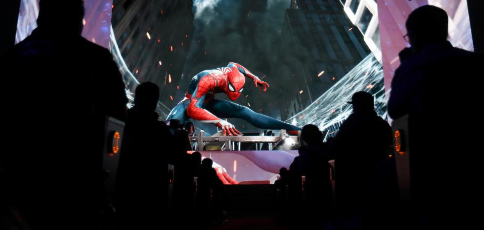 Sony unveiled its new Spider-man game. Photo: Reuters
