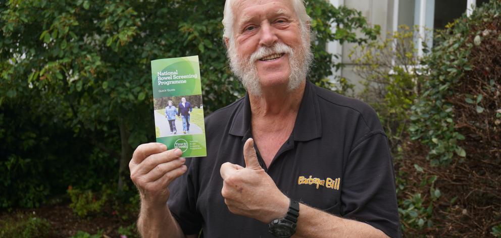 Dunedin man Tony Cummings is happy and healthy after having bowel cancer detected and successfully treated through the screening programme. Photo: Supplied