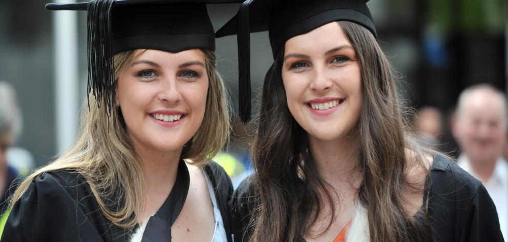 Queenstown twins Taylor and Olivia Bain (21) graduated with a bachelor of arts and bachelor of...