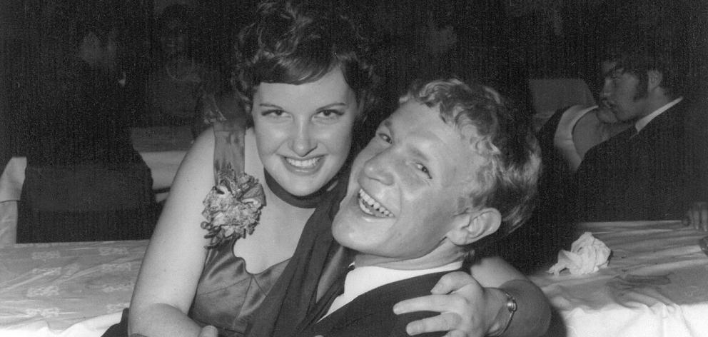 Ian Hurst and his then girlfriend, now wife, Gloria in the early 1970s. Photo: Supplied