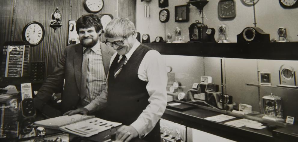 An old photograph of Brian Daniels, with his father Bob. Photo: Supplied