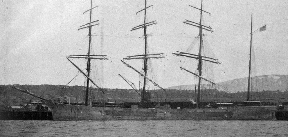 The American barque, John Ena, the largest sailing craft yet to have visited Dunedin. — Otago...