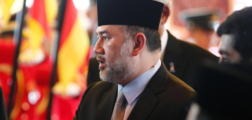 Malaysia's King Muhammad V. Photo: Reuters
