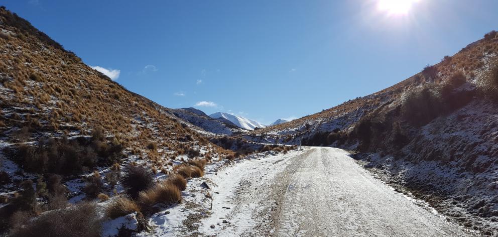 Danseys Pass under snow. PHOTO: JANE THOMPSON