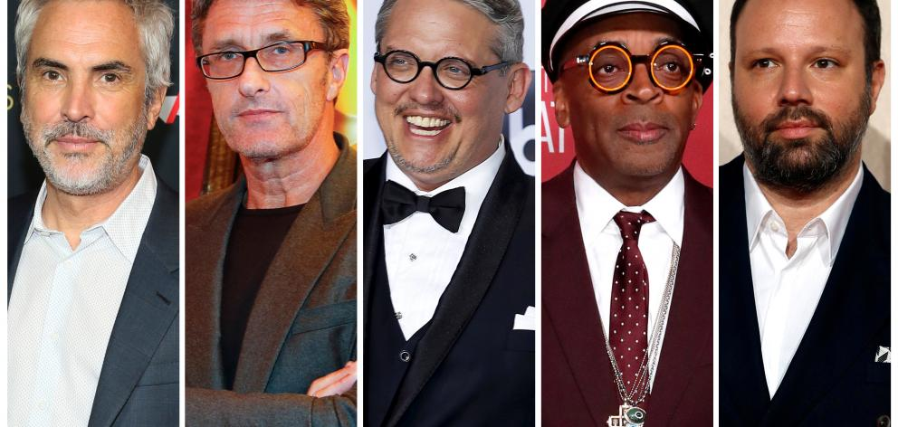 Best director Oscar nominees for the 91st annual Academy Awards (L-R) Cuaron, Pawlikowski, McKay, Lee and Lanthimos. Photo: Reuters