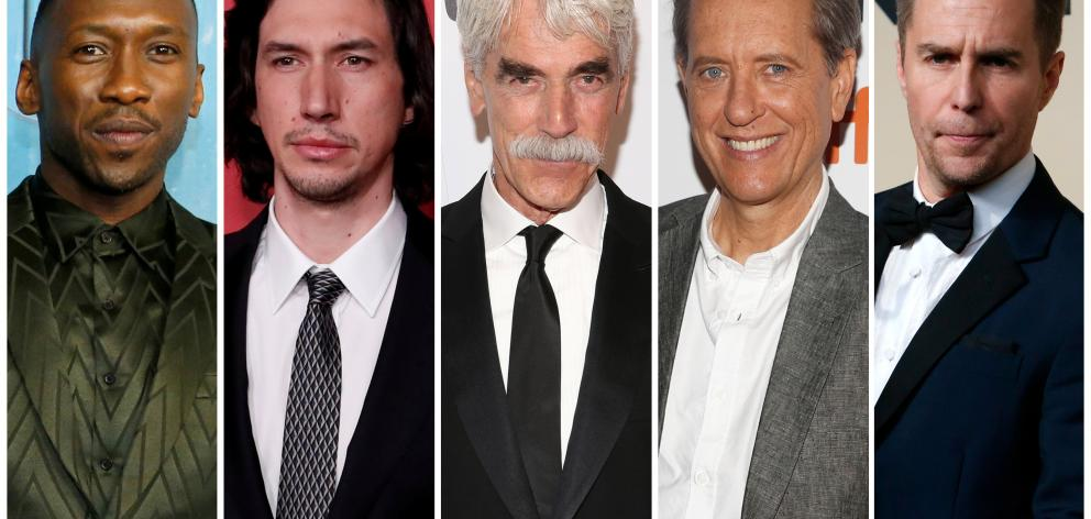 Best supporting actor Oscar nominees for the 91st annual Academy Awards (L-R) Ali, Driver, Elliott, Grant and Rockwell. Photo: Reuters