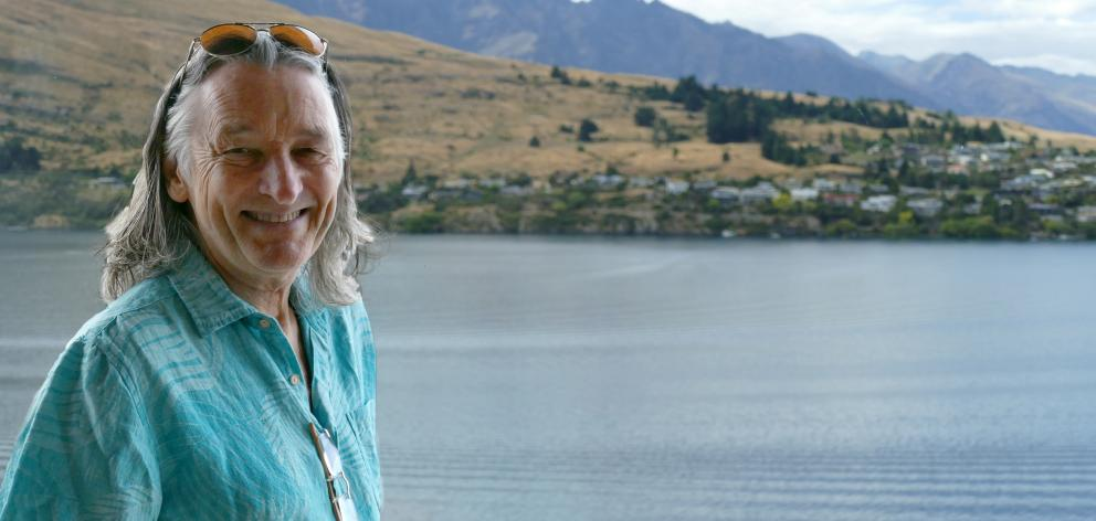 Voice and co-founder of Supertramp, Roger Hodgson, at The Rees Hotel in Queenstown today ahead of his gig at the Gibbston Valley Winery on Saturday. Photo: Joshua Walton