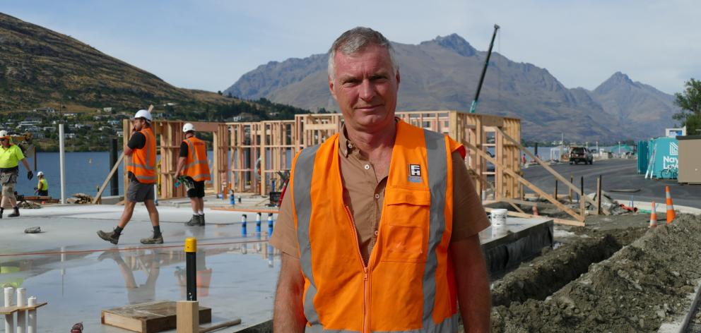 Lakes Marina Projects partner Alan Kirker at the new Frankton marina site on Tuesday. Photo: Joshua Walton