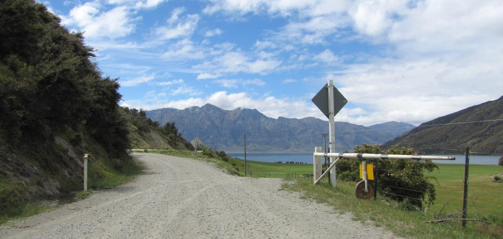 The road that runs through Hunter Valley Station, Lake Hawea. Photo: Mark Price