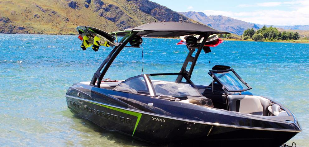The wake-setter Malibu jet-boat can create waves up to 1.5m. Photo: Supplied