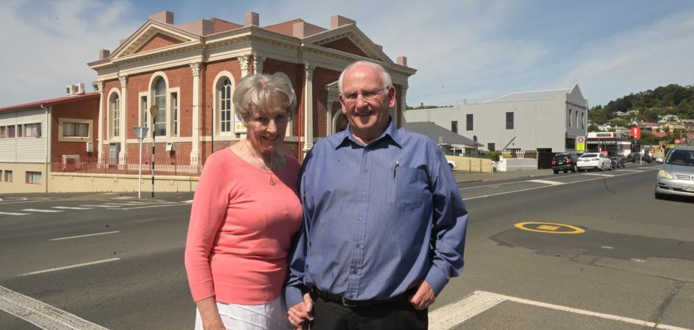Caversham Baptist senior pastor Roly Scott and his wife, Trudy, stand outside the church after a...