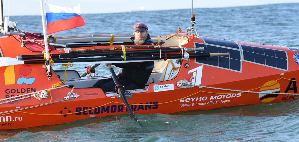 Russian adventurer Fedor Konyukhov has passed the halfway mark in his rowing journey from Dunedin...