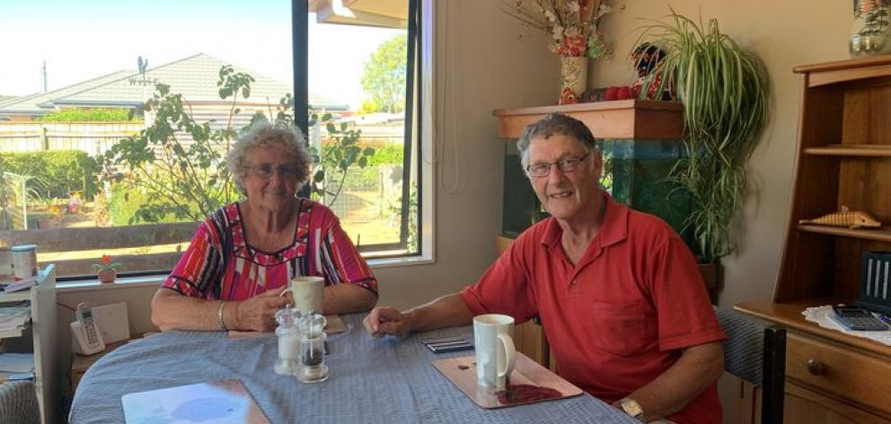 Julie Jermyn and Ian Sutton are relieved to be home again in Wakefield. Photo: RNZ