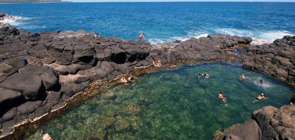 The Mermaid Pools could be temporarily closed by a local hapū over environmental concerns. Photo: Supplied via NZ Herald