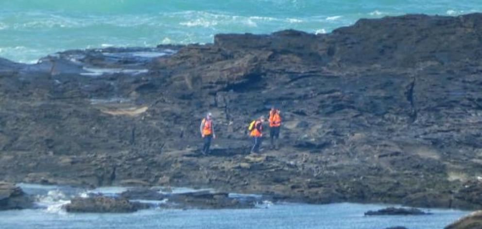 The search was conducted on land and in the water. Photo: ODT
