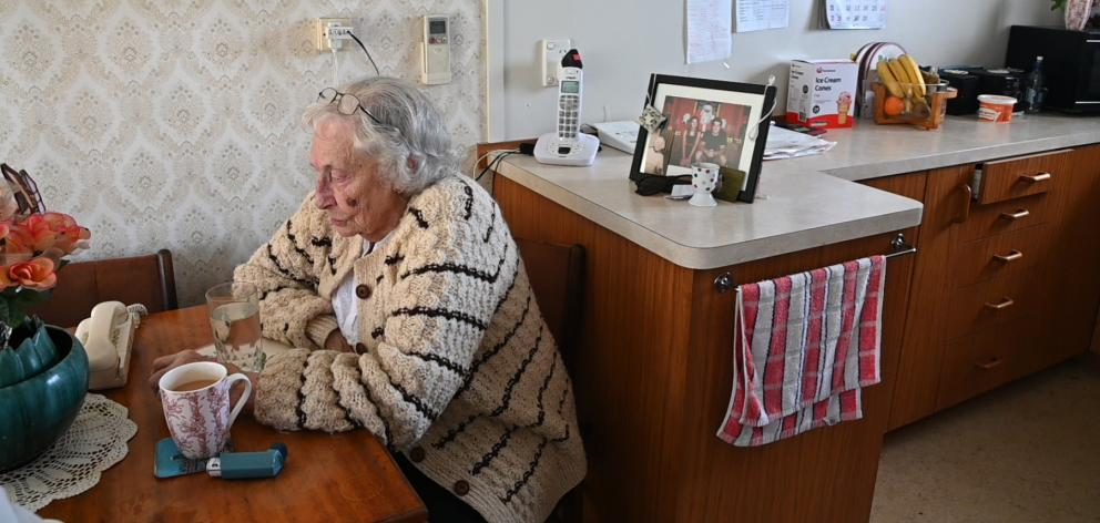 Noeline Collins (86) receives regular visits at home from health workers to check she has all she...