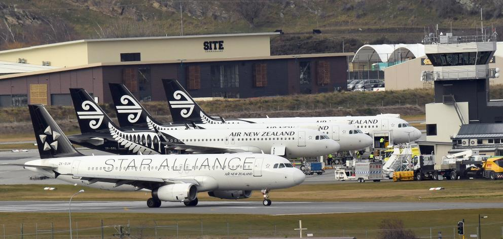 Queenstown Airport passenger numbers reached 2.14million in the year ending June. Photo: Stephen Jaquiery